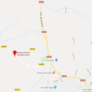 mapa ubicación alojamiento rural el campito